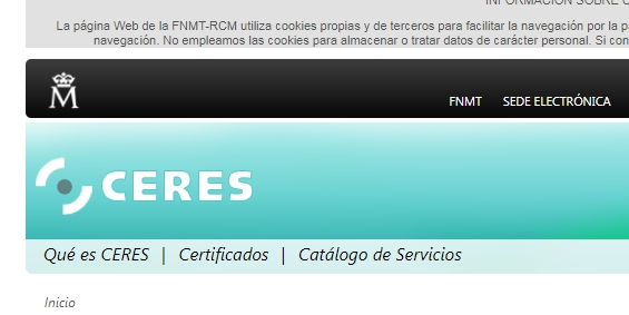 FNMT certificado digital
